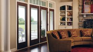 Patio French Doors With Blinds by Patio Doors Center Hinged Patio Door With Blinds Best Doors Ideas