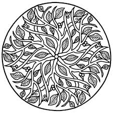 bunch ideas of printable leaf mandala coloring page about layout