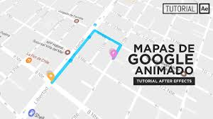 Googole Maps Google Maps Animated After Effects Tutorial Youtube