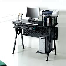 Glass Metal Computer Desk Black Metal Computer Desk F1073 Monarch Black Metal L Shaped
