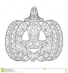 halloween pumpkin coloring book vector stock vector image 78618527