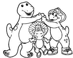 barney and friends cartoon best friends coloring page wecoloringpage