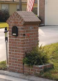 brick mailbox ideas wall mounted style for mailbox ideas