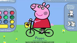 peppa pig paint and color games online peppa pig coloring games