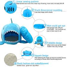 Are Igloo Dog Houses Warm Cat Puppy Small Pet Soft Warm Igloo Shark Mouth Dog Bed Cave House