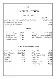 martini price 4 of 6 price lists u0026 menus u2013 limetree kitchen lewes cafe restaurant