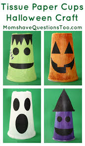 Halloween Craft Pictures by Tissue Paper Cups Halloween Craft Jpg