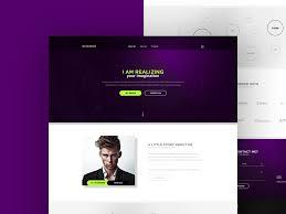 personal portfolio website theme free psd download download psd