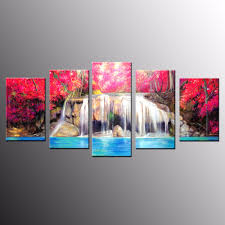 compare prices on large oil painting waterfall online shopping