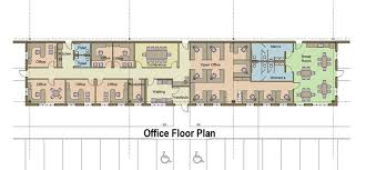 floor plan for office building production and floor plans for 159 000 sf build profile