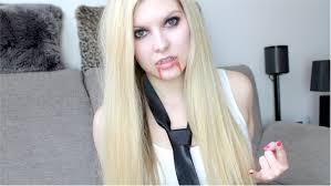 halloween vampire avril lavigne make up tutorial u2013 chyaz