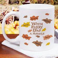 stuffed with personalized thanksgiving coffee mugs