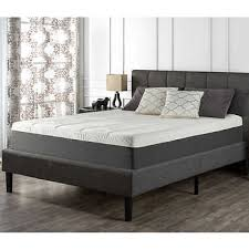 Gray Platform Bed Blackstone Queen Upholstered Square Stitched Platform Bed
