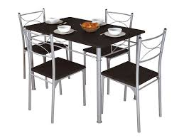 ensemble table 4 chaises sernan coloris gris wengé vente de