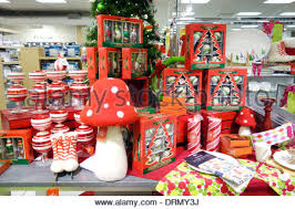 decorations on sale in department store stock photo