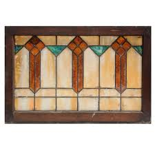 painting on glass windows antique arts and crafts american stained glass window c early