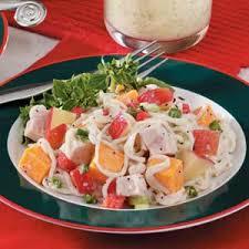 Cold Pasta Salad Recipe Cheddar Apple Turkey Salad Recipe Taste Of Home