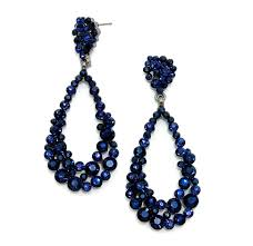 navy blue earrings sapphire navy blue earrings navy and royal blue wedding