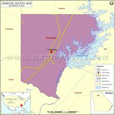 county map ga forsyth county map map of forsyth county