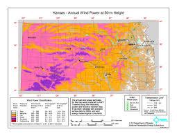 Kansas State Map Wind Power In Kansas Wikipedia