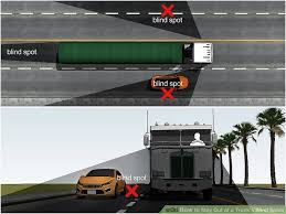 Blind Spot Mirror Where To Put How To Stay Out Of A Truck U0027s Blind Spots 11 Steps With Pictures