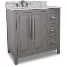 35 grey modern bathroom vanity van100 36 t with white marble top