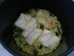 cuisiner poisson congelé cabillaud au riz et courgettes version cookeo elodie cuisine