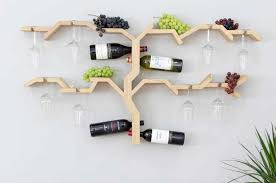wooden wall mounted wine rack with decorative design ideas home