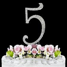 rhinestone number cake toppers rhinestone cake topper number 5 kitchen dining