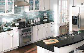 Blue Kitchens With White Cabinets White Kitchen With Dark Blue Tiling Video And Photos