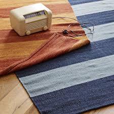 camden stripe handwoven rug indigo west elm