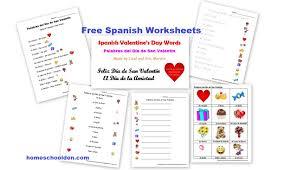free spanish worksheets valentine u0027s day u2013 día de san valentín