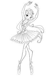 Ballerina Coloring Pages For Childrens Printable For Free Ballerina Printable Coloring Pages
