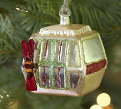 ski gondola ornament pottery barn