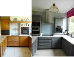 cuisine avant apr鑚 cuisine satinelle basalte rénovation cuisine avant après