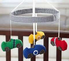 Car Nursery Decor Race Car Crib Mobile Pottery Barn