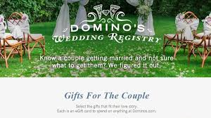 how to do a wedding registry domino s launches baby registry for pizza loving parents today