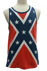 Southern Rebel Flag Men U0027s Confederate Rebel Flag Tank Top Southern Dixie Redneck Pride