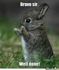 Clapping Meme - clapping bunneh by bad1 meme center