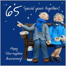 65 wedding anniversary 65th wedding anniversary card co uk kitchen home
