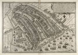 Map Of Amsterdam Map Of Amsterdam From The Civitates Orbis Terrarum Cologne 1572