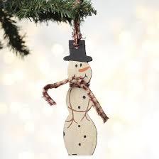 rustic wood snowman ornament ornaments and