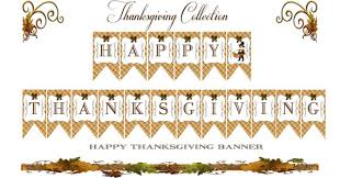 printable happy thanksgiving banner festival collections