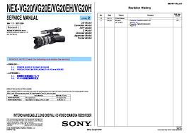 sony nex vg20 nex vg20e nex vg20eh nex vg20h service manual