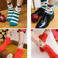 fuzzy christmas socks online shop 4 pair lot 2017 winter women christmas socks cotton