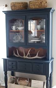 farmhouse style and painted furniture navy blue hutch and white