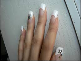 acrylic coloured nail tips easy way nail art with you in pictures