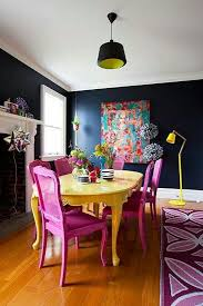 colorful dining room tables home interior decorating