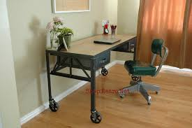 Dining Table And Chairs On Wheels Desks U2013 Vintage Industrial Furniture