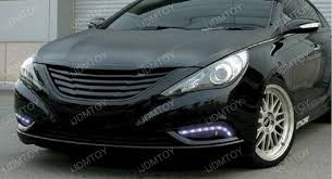 2011 hyundai sonata headlights hyundai sonata oem fit led daytime running lights with install